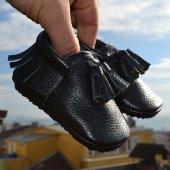 Corcik Makosen Tabanlı Bebek Ayakkabı Siyah Cv 416