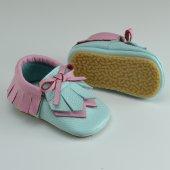 Navaho Makosen Tabanlı Bebek Ayakkabı Mint Pembe Cv 418