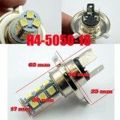 H4 18 Led Ampül.1 Takım Fiyatıdır.12v