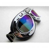 Krom Çerçeve Renkli Cam Choper Cross Gözlük Motorsiklet Gözlüğü