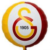 1 Adet 45 Cm Galatasaray Amblem Baskılı Folyo Balon Helyumla Uçan