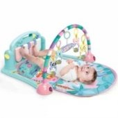 Babycim Sevimli Piyanolu Sesli Aynalı Oyun Halısı Soft Renk