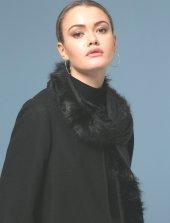 Kürklü Siyah Şal