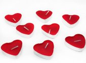 25 Adet Kalpl Teal Ght Mum Kırmızı Kalp Ekl Nde Mum