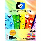 Alex Schoeller A4 Çok Renkli 100 Sayfa