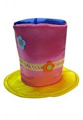 Renkli Melon Palyaço Şapkası