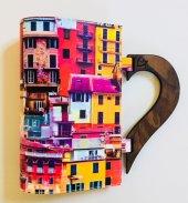 Okurgezer Kitap Kılıfı Portekiz Evleri Ahşap Saplı