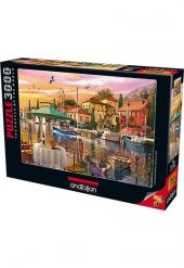 Anatolian 3000 Parça Puzzle Limanda Günbatımı Sunset Harbour