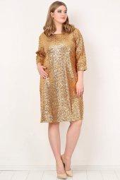 Büyük Beden Payetli Mini Abiye Elbise Kl5601