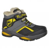 Zümrüt 088 Cırtlı Termal Kürklü Erkek Çocuk Kışlık Bot Ayakkabı