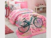 Cotton Box Tek Kişilik Comfort Set Yatak Örtüsü Takımı Bike Pembe