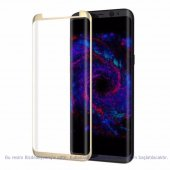 Samsung Galaxy S8 5d 3d Kavisli Tamperli Kırılmaz Cam Tam Kapl