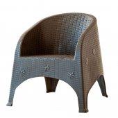Olivya Koltuk Kahverengi Renkli Bahçe Sandalyesi