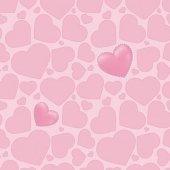 Kids 1975 Pembe Kalp Desenli Duvar Kağıdı