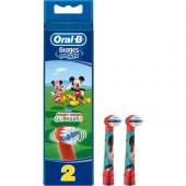 Oral B Stages Power 2 Adet Yedek Başlık Mickey