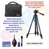 Canon Dslr 140cm Tripod + Set Çanta + Temizlik Set...