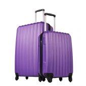 Ground 2li Valiz Büyük Ve Kabin Boy Kırılmaz Bavul Mor 10522