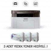 Samsung Sl M2070 Fotokopi + Tarayıcı + Laser Yazıcı 3 Adet Muadil+1 Adet Orjınal Tonerli (11.000 Sayfalık Toner) Laser Yazıcı
