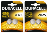 Duracell Düğme Lityum Pil 2025 2li 2 Paket (4 Adet)
