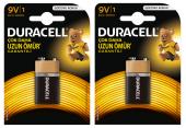 Duracell 9 Volt Pil 2 Adet 2 Paket