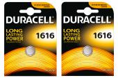 Duracell Düğme Düğme Pil 1616 Tekli (2 Kart 2 Paket)