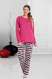 Lady Çiçek Motifli Pijama Takımı