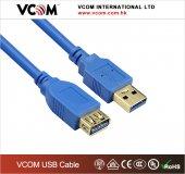 Vcom Cu302 3mt Şeffaf Usb 3.0 Uzatma Kablosu Mavi