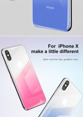 Baseus Coloring Tempered Glass Arka Cam Iphone X