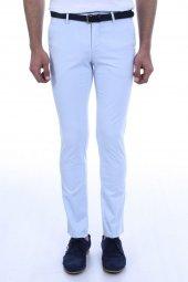 Arka Cep Kapaklı A.mavi Slimfit Pantolon