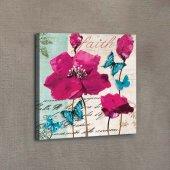 Pink Poppy 40x40 Cm 3d Kanvas Tablo