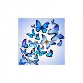 Mavi Kelebekler Bulaşık Makinesi Sticker