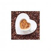 Kalp Kahve Bulaşık Makinesi Sticker