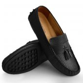 Kny Rok Ponponlu Model Hakiki Deri Esnek Günlük Erkek Ayakkabı