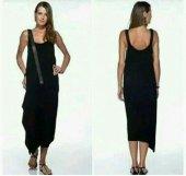 Kadın Deri Kemerli Elbise
