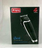 King Quıck K 174 Saç Kesme Makinesi (Siyah)