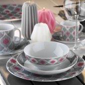 Kütahya Porselen Ikat Serisi Zeugma 24 Parça Yemek Takımı Bant Dekor 9130