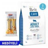 Brit Care Adult Large Breed Kuzu Etli & Pirinçli Köpek Maması 3 Kg