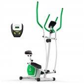 Dynamic E18 Seleli Manyetik Eliptik Kondisyon Bisikleti Yeşil Renk