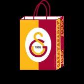 Galatasaray Lisanslı Büküm Saplı Karton Çanta 12 Adetli 18x24 Cm