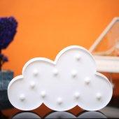 Bulut Tasarımlı Beyaz Renkli Ledli Gece Lambası