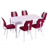 Evform Vals 6 Kişilik Mutfak Masası Takımı Yemek Masasi