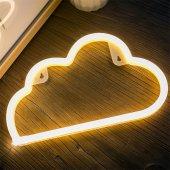 Bulut Tasarımlı Ledli Gece Lambası