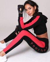 Kadın Fitness Siyah Eşofman Takım