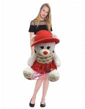 Peluş Ayı Şapkalı Şık Kıyafetli Sevimli 40 Cm