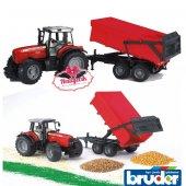 Bruder Massey Ferguson 7480 Traktör Ve Römork 02045