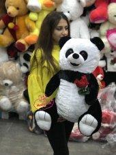 Oyuncak Peluş Panda 60 Cm Gül Tutan Romantik Panda Sevdiklerinize Özel Hediye