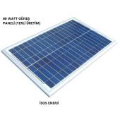 40 Watt Polikristal Güneş (Solar) Panel