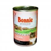 Bonnie Jöle İçinde Parçacıklı Somonlu Kedi Konservesi 400 Gr