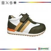 222 Ortopedia Erkek Bebek Ayakkabı Olive, Beyaz