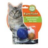 Eurogold Mat Fare Ve Parlak Top İkili Kedi Oyuncağı